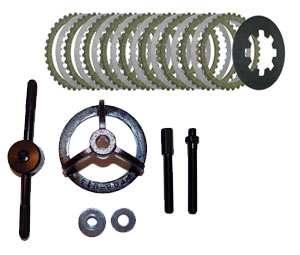 1990-97 Big-Twin & 1991 to Present Sportster (XL) - Extra Plate Kit w/spring and Compression Tool Combo